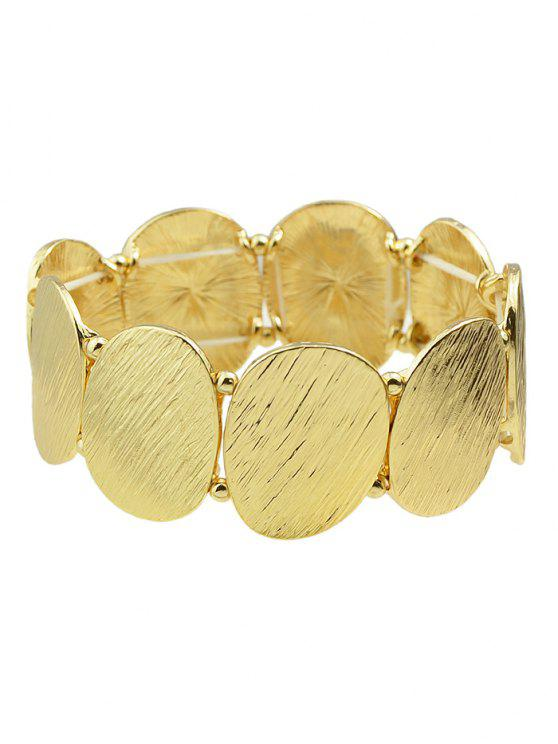 outfits Elastic Alloy Oval Sequins Bracelet - GOLDEN