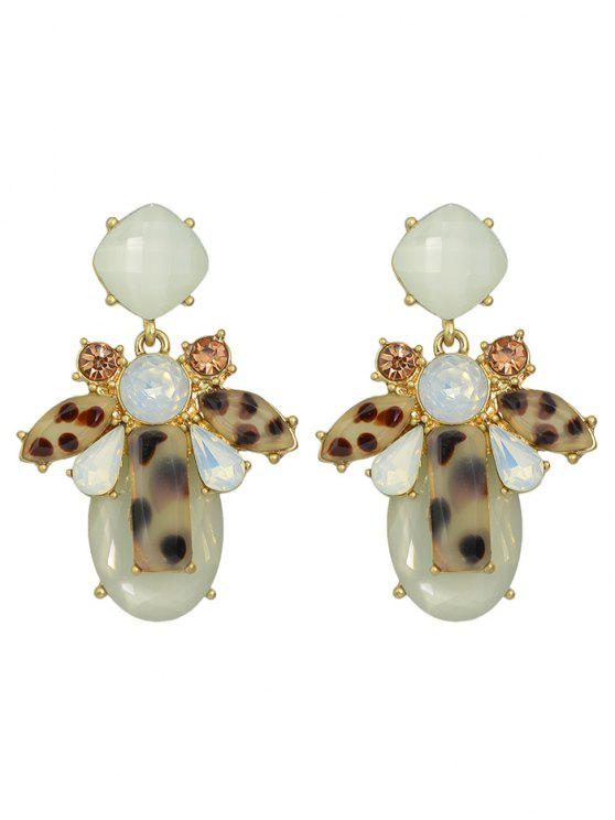 hot Faux Crystal Geometric Water Drop Earrings - BEIGE