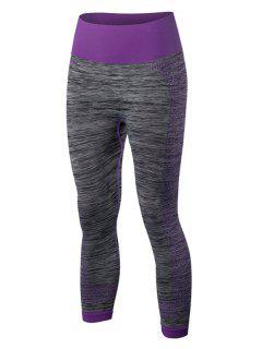 Sport Capri Running Leggings - Purple L