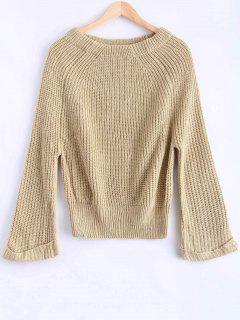 Off Shoulder Chunky Sweater - Apricot