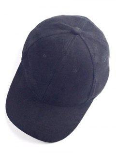 Brief Faux Suede Baseball Hat - Black