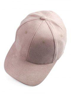 Brief Faux Suede Baseball Hat - Pink