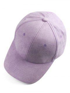 Brief Faux Suede Baseball Hat - Light Purple