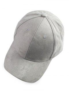 Brief Faux Suede Baseball Hat - Light Gray