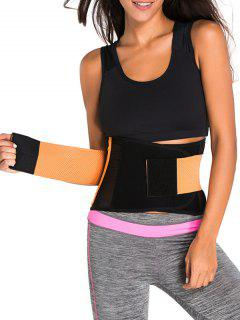 Hook And Loop Waist Trainer Corset - Orange S