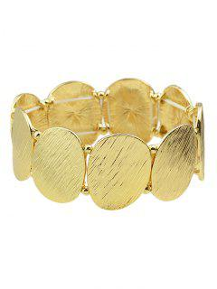 Elastic Alloy Oval Sequins Bracelet - Golden