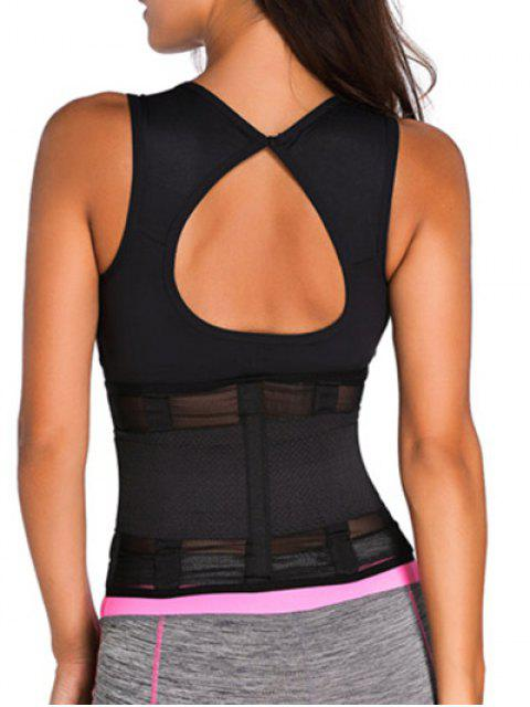 fashion Hook and Loop Waist Trainer Corset -   Mobile