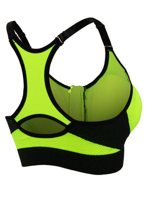 women's Active Padded Sport Bra - GREEN L Mobile