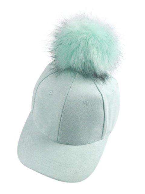 shop Big Fuzzy Ball Faux Suede Baseball Hat -   Mobile