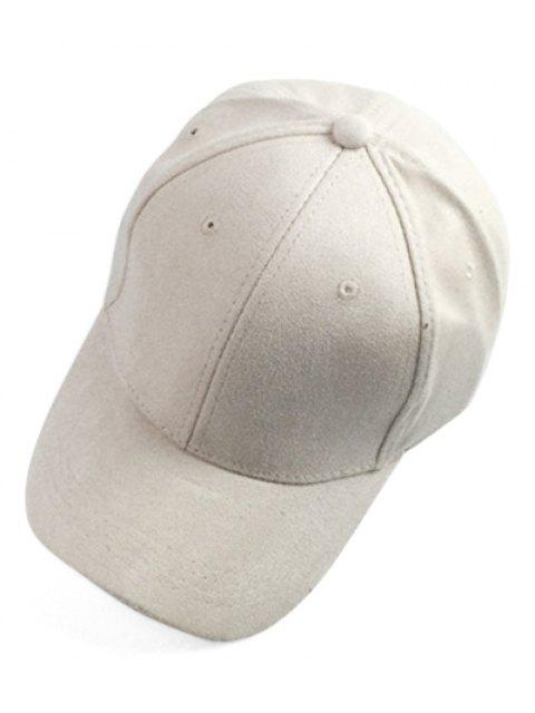 women's Brief Faux Suede Baseball Hat - OFF-WHITE  Mobile