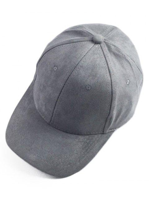 ladies Brief Faux Suede Baseball Hat - DEEP GRAY  Mobile