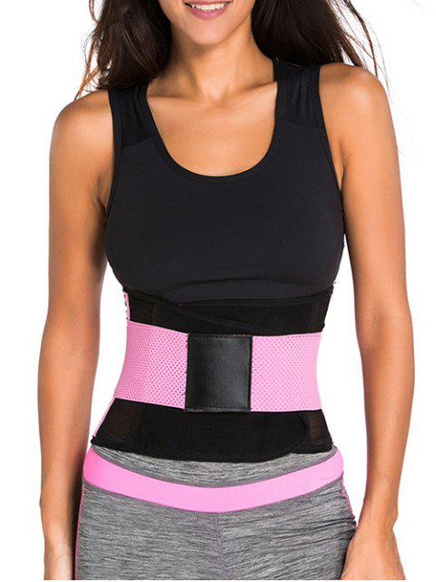 outfit Hook and Loop Waist Trainer Corset - PINK S Mobile