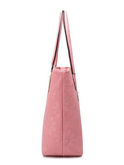 online Daisy Pattern PU Leather Metal Shoulder Bag - DEEP BLUE  Mobile