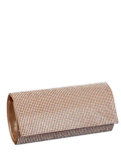 shops Rhinestone Flap Evening Bag - GOLDEN  Mobile