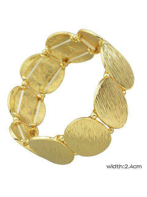 outfits Elastic Alloy Oval Sequins Bracelet - GOLDEN  Mobile