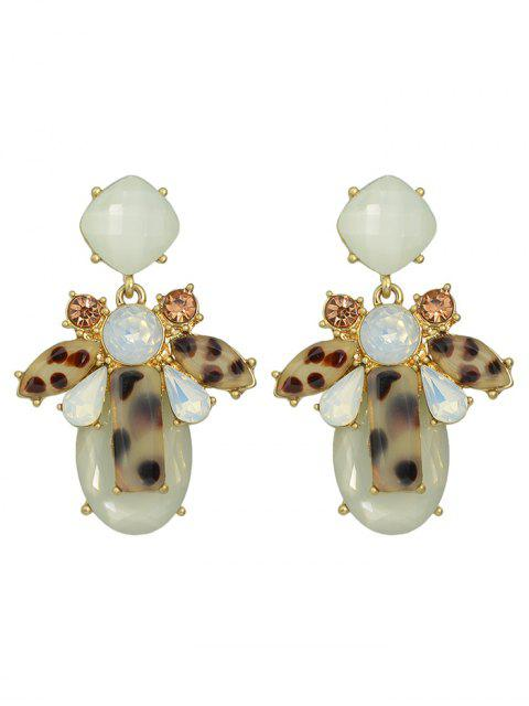 hot Faux Crystal Geometric Water Drop Earrings - BEIGE  Mobile