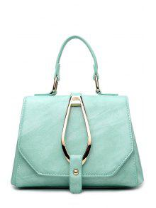 Magnetic Metal Flap Tote Bag - Green
