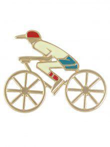 دراجة الجوف خارج صبي شكل بروش - ذهبي