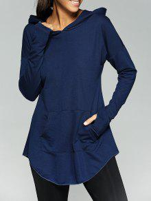الكنغر بوكيت تونيك هودي - الأرجواني الأزرق Xl