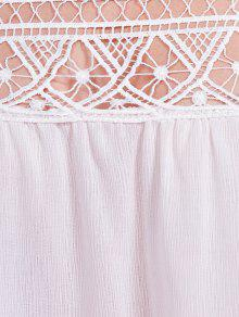 Las Mujeres S Para Blusa Blanco Hombro Del Cortaron El Estilo A6Yqx