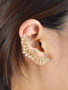 وهمية كريستال ليف شكل الأذن الأصفاد - ذهبي