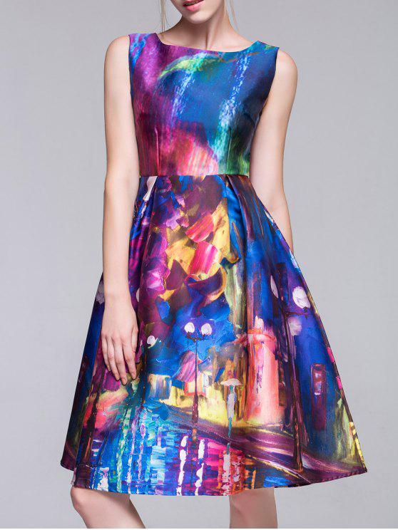 Multicolor Fit y vestido de la llamarada - Colormix M