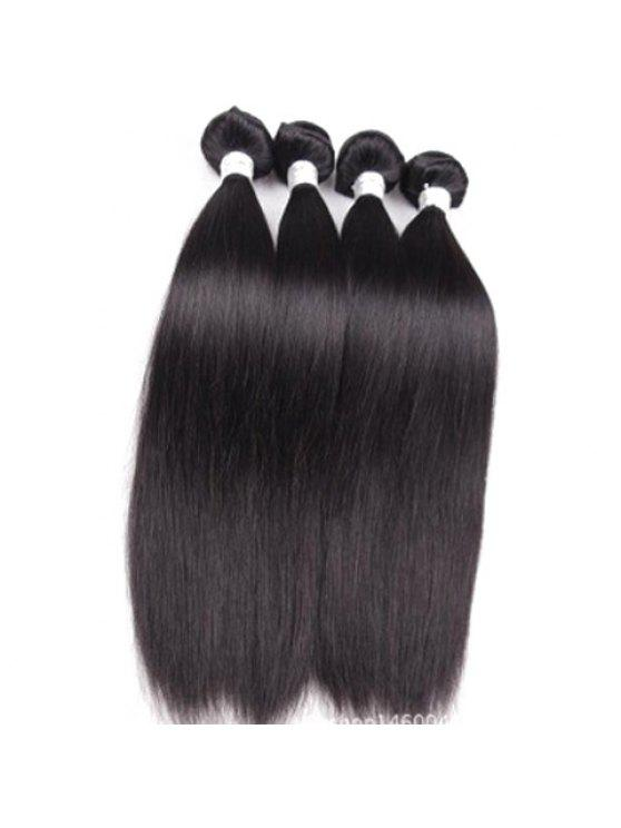 1pcs 5a Remy Straight Indian Hair Weave Black Wigs 14inch Zaful