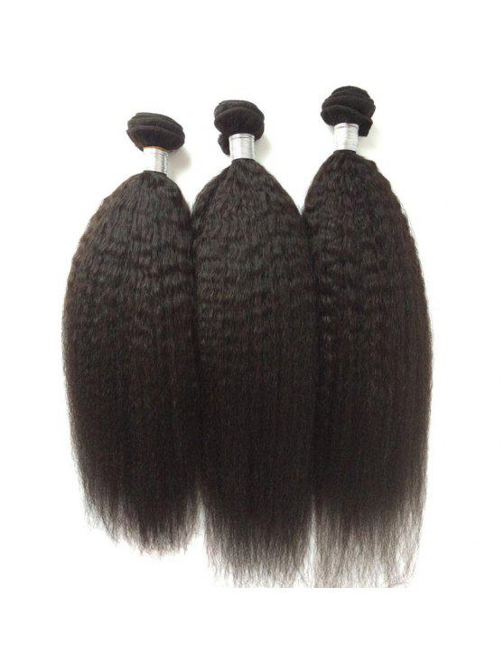 1pcs 5a Remy Kinky Straight Indian Hair Weave Black Wigs 10inch Zaful