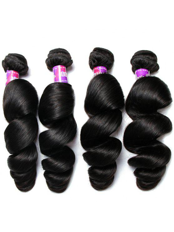 2018 1pcs 5a Remy Loose Wave Indian Hair Weave In Black 12inch Zaful