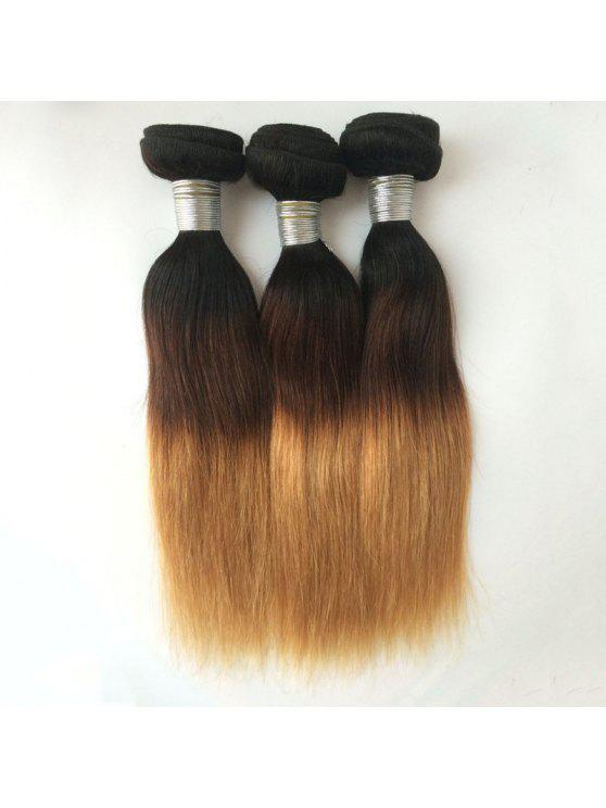 1pcs Multi 5a Remy Straight Indian Hair Weave Colormix Wigs 14inch