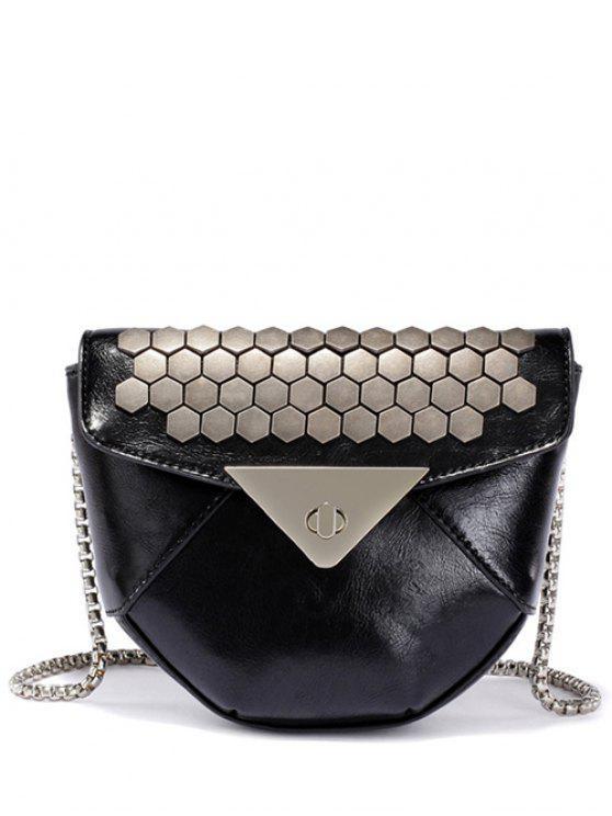 حقيبة كروسبويد بسلسلة معدنية - أسود