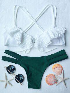 Spliced Criss-Cross Bikini Set - White S