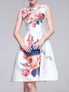 A-Line Midi Dress - White S