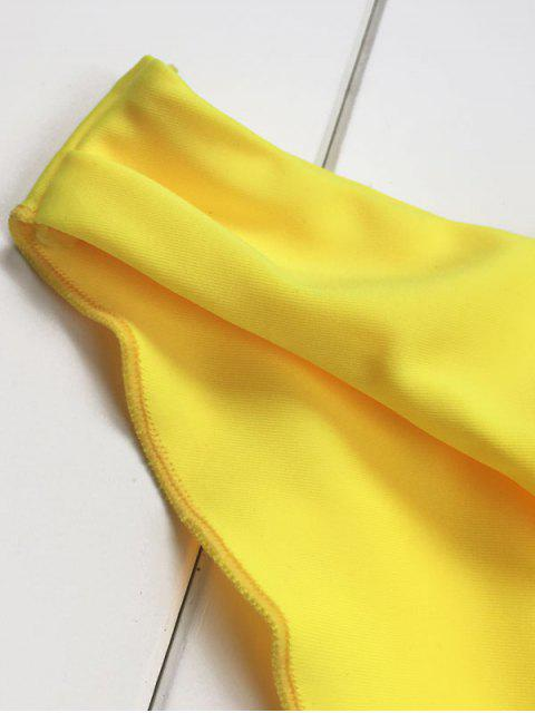 latest Braided Swimming Bikini Set - YELLOW S Mobile