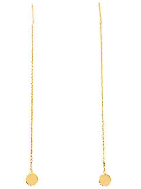 fashion Long Chain Disc Ear Threads - GOLDEN  Mobile