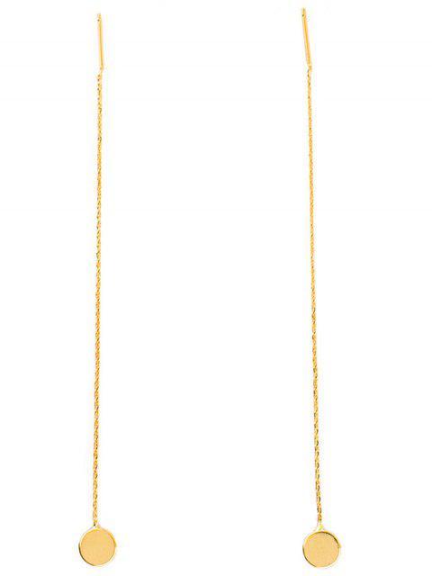 fil d'oreille long en paire de chaîne - Or  Mobile