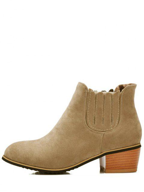 latest Chunky Heel Elastic Band Ankle Boots -   Mobile