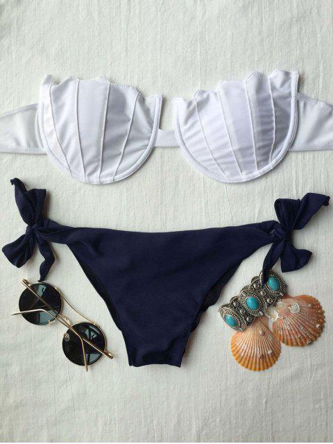 unique Strapless Padded Bikini Set - WHITE M Mobile