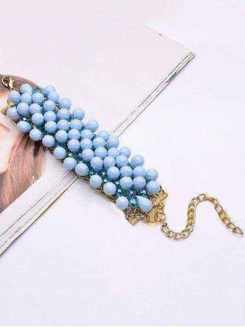 latest Faux Crystal Beaded Water Drop Bracelet -   Mobile
