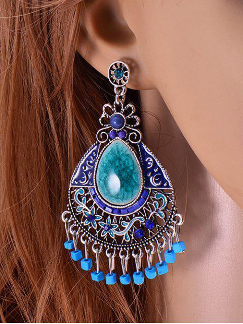 trendy Faux Gem Boho Jewelry Floral Earrings -   Mobile