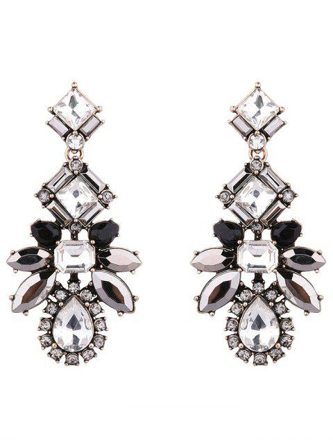 fashion Artificial Crystal Water Drop Geometric Earrings - BLACK  Mobile