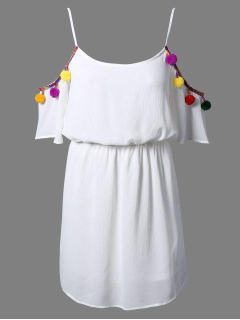 Blanc Cami 3/4 Sleevel Une robe de ligne - Blanc 2XL Mobile