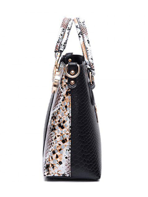 new Rhinestones Embossing Metal Tote Bag - BLACK  Mobile
