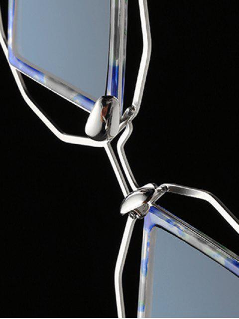 latest Rhombus Mirrored Irregular Sunglasses -   Mobile