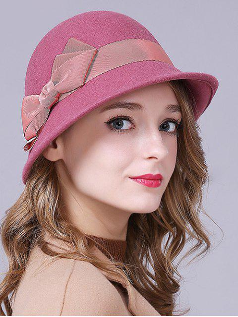 Bow Band Felt Chapeau - rose  Mobile
