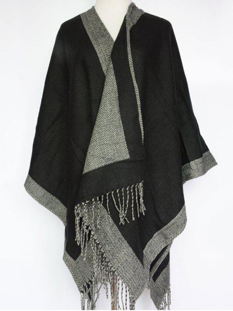fancy Herringbone Tassel Shawl Pashmina -   Mobile