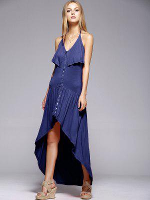 Ruffles Haut Robe Bas Cami - Bleu Xl