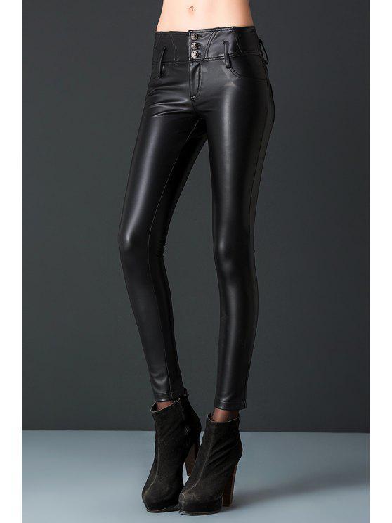 trendy PU Leather Pants - BLACK L