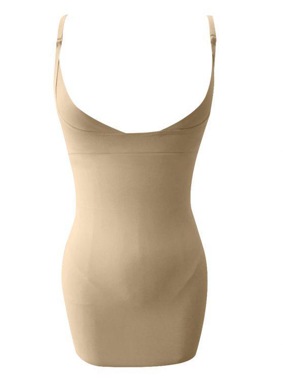 ممدود السباغيتي حزام كامل الجسم مشد - بشرة L