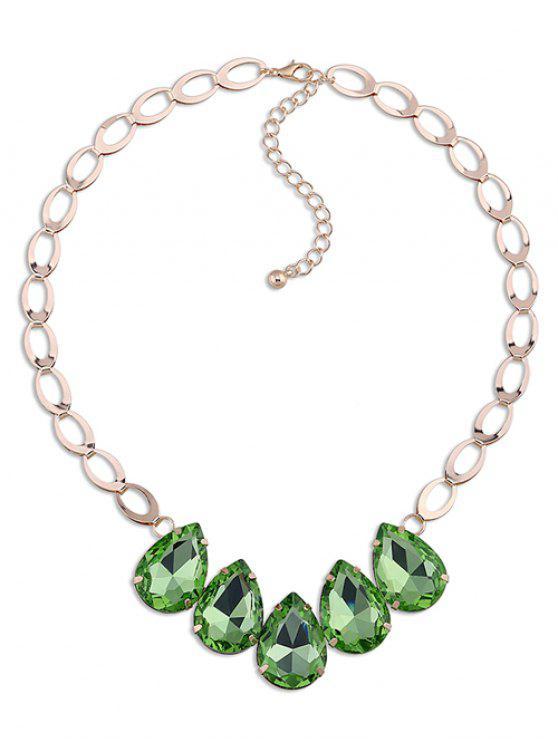 Collar de la gota de agua de imitación de cristal adornan - Verde